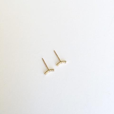 Kristen Elspeth Tiny Pave Moon Stud