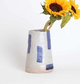 Alice Cheng Studio Blue Strokes Vase