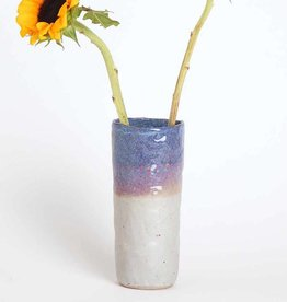 Alice Cheng Studio Violets Tall Vase