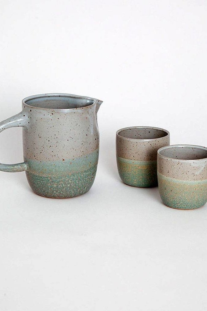 Alice Cheng Studio Green Pitcher Set
