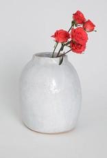 Alice Cheng Studio White Round Vase