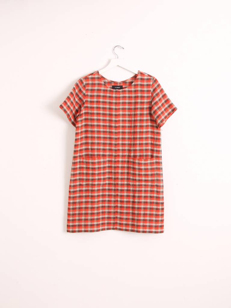 A.Cheng Sandra Plaid Dress