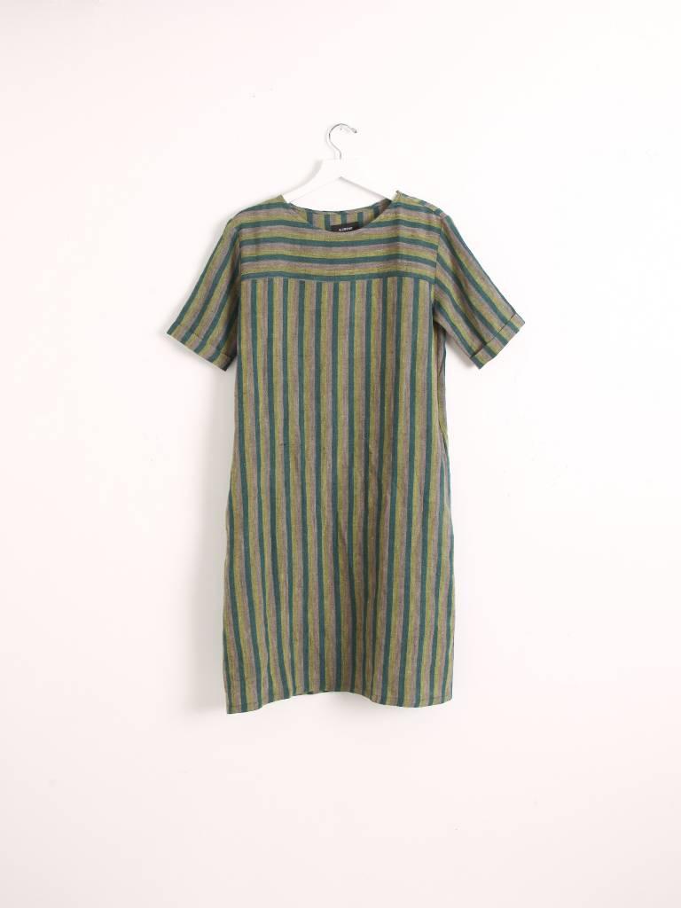 A.Cheng Birdie Dress Linen Viscose Blend