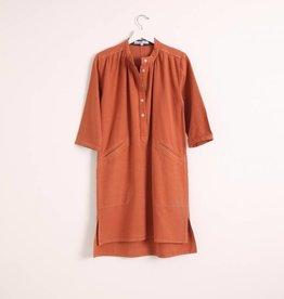 Sideline Lois Shirt Dress - Rust