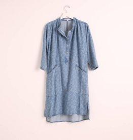 Sideline Lois Shirt Dress - Denim
