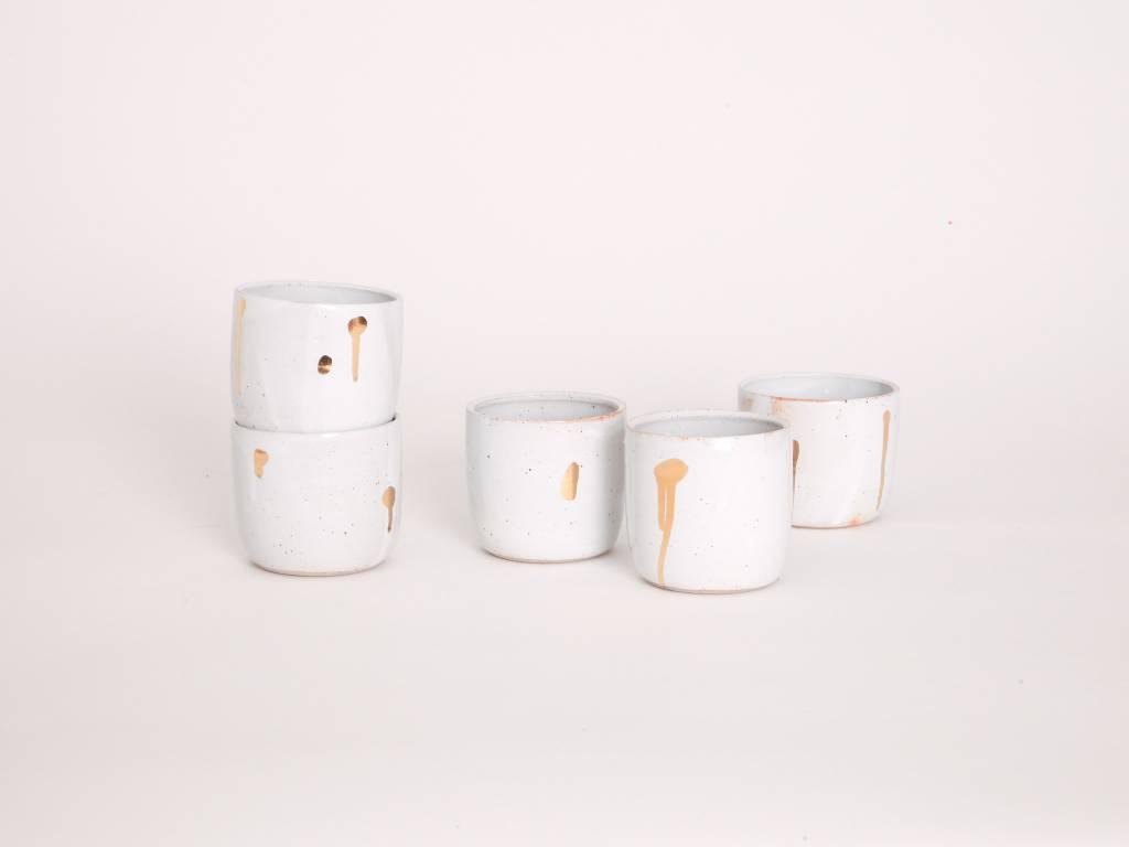 Metallic Cup - White