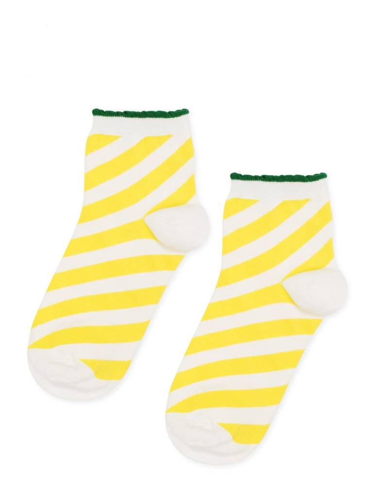 Hansel From Basel Candy Stripe Anklet - Yellow