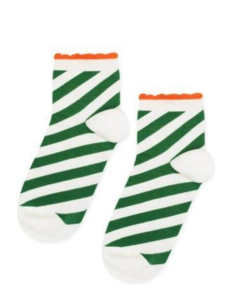 Hansel From Basel Candy Stripe Anklet - Green