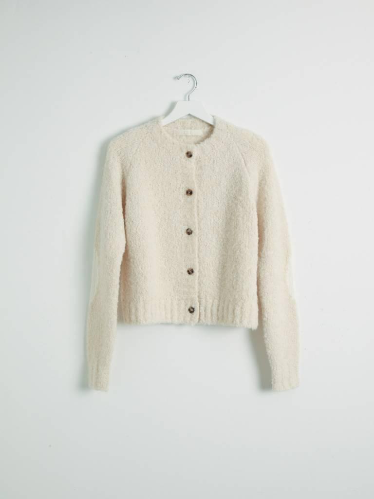 Tela White Girocollo Sweater