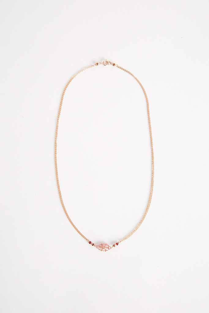 Robin Haley Jewelry Rose Gold Lace Necklace - 18""