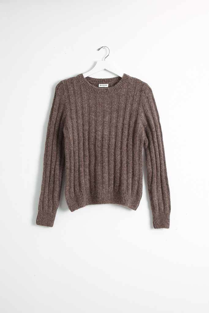 masscob Brown Alpaca Sweater