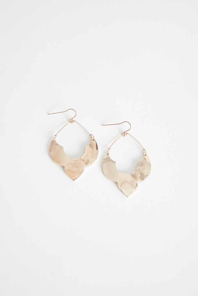 Robin Haley Jewelry Gold Lotus Moroccan Earrings