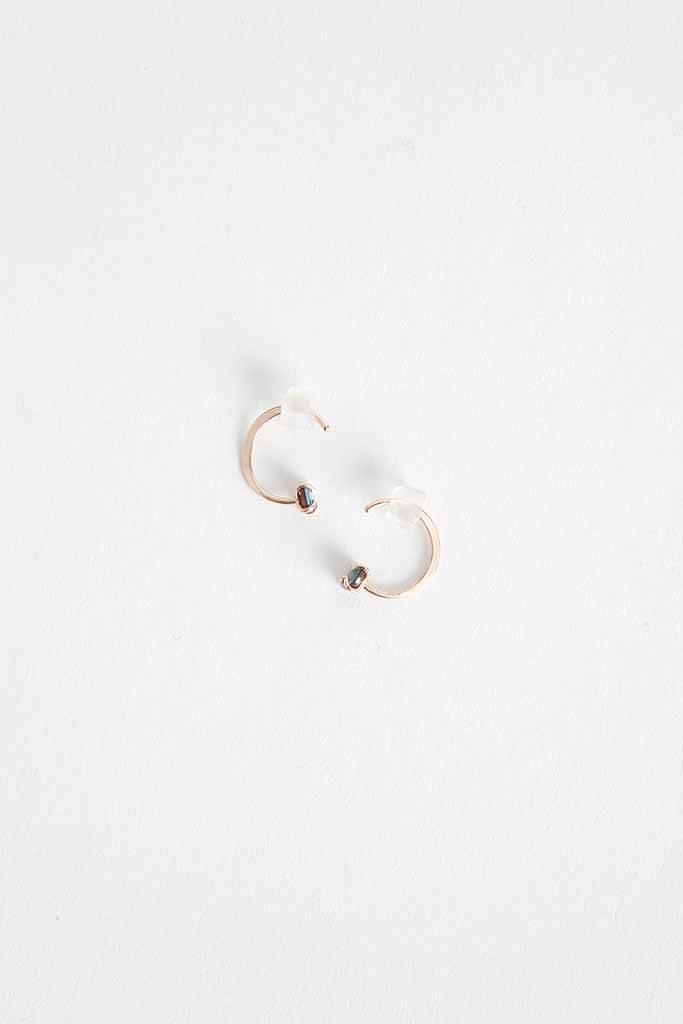 Melissa Joy Manning Opal Hug Earrings - 14k YG