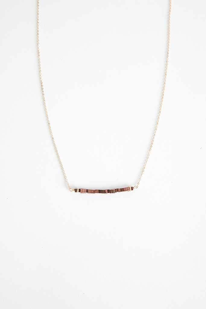Robin Haley Jewelry Rose Gold Hematite Necklace