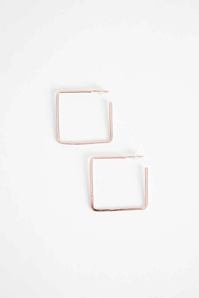 Robin Haley Jewelry Rose Gold Small Square Hoops