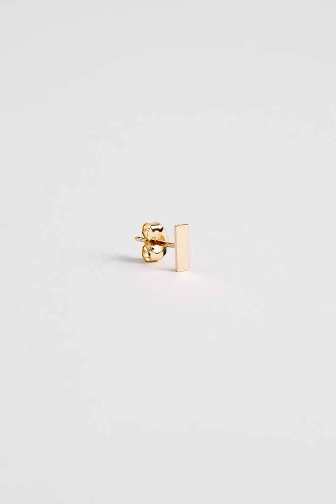 Still House Tili Stud Earring Large 14Kt Gold