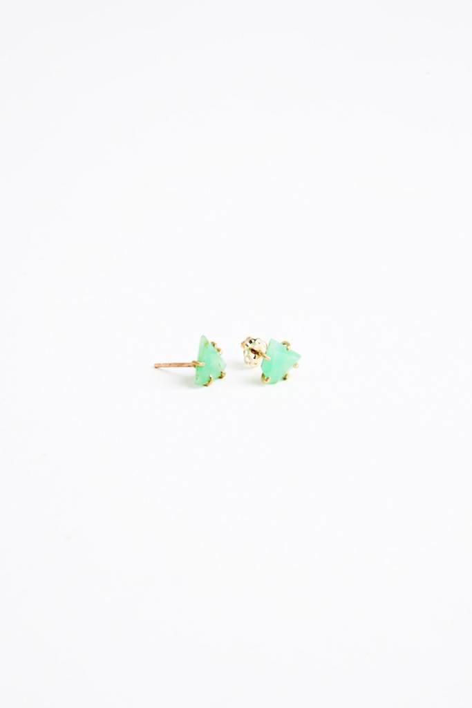 Variance Chrysoprase Small Studs