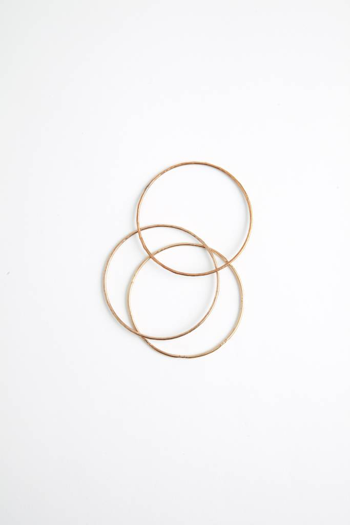 Material Wit Textured Bangles Brass