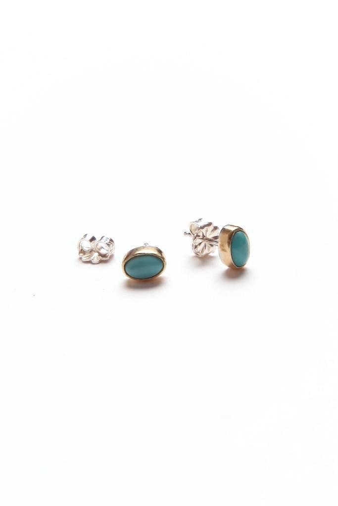 Satomi Studio Tiny Turquoise Studs