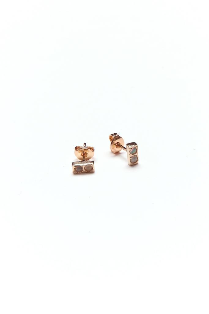 Merewif Doubles Earrings Opal