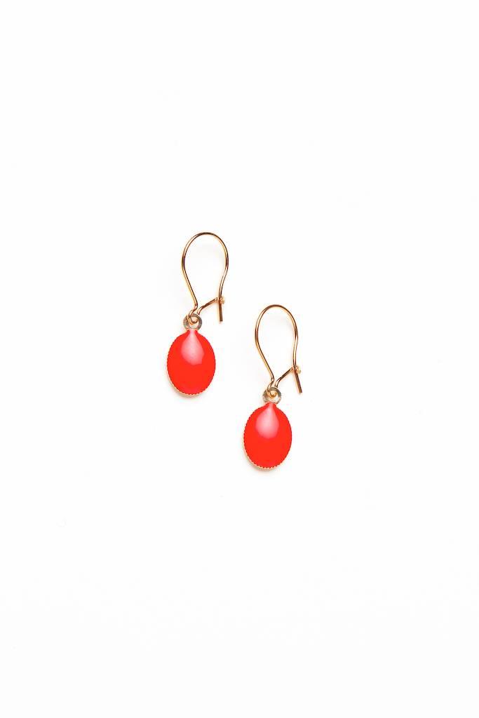 Tassia Canellis Lovebirds Earrings Brass/Enamel