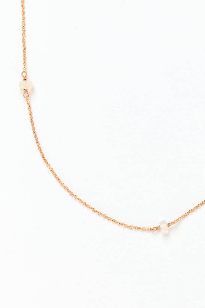 "Opal Triage Necklace GF - 18"""