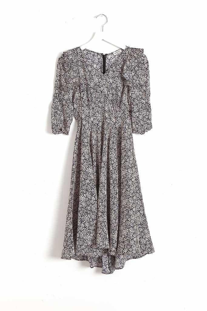 masscob Ruffled Midi Dress