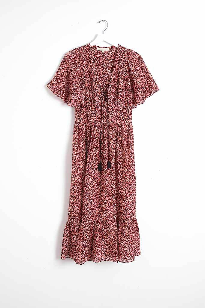 vanessa Bruno Athe Idrak Dress Grenat Floral