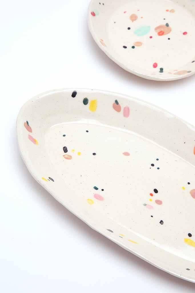 Alice Cheng Studio Confetti Oval Plate