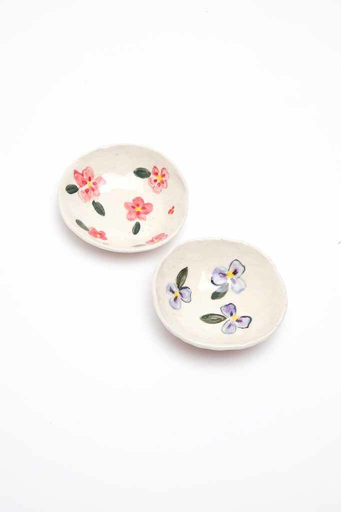 Alice Cheng Studio Small Floral Dishes
