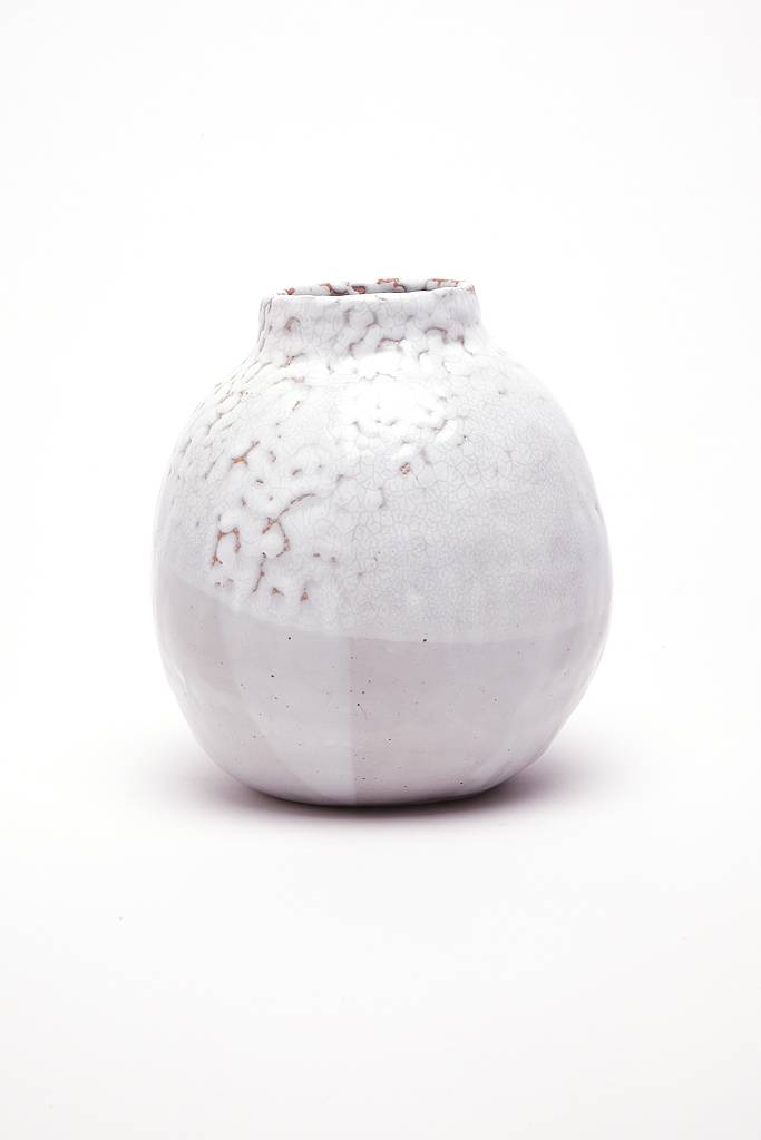 Alice Cheng Studio Round Winter Vase White Aeng Shop Inc