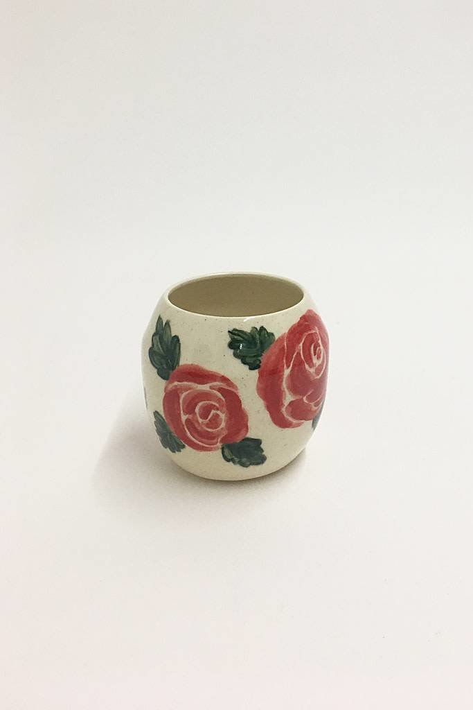 Alice Cheng Studio Round Hand Painted Rose Vase Small