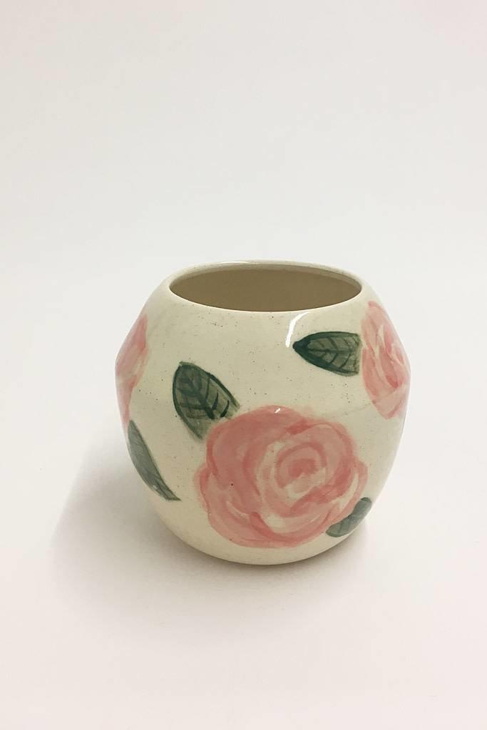 Alice Cheng Studio Round Hand Painted Rose Vase Medium