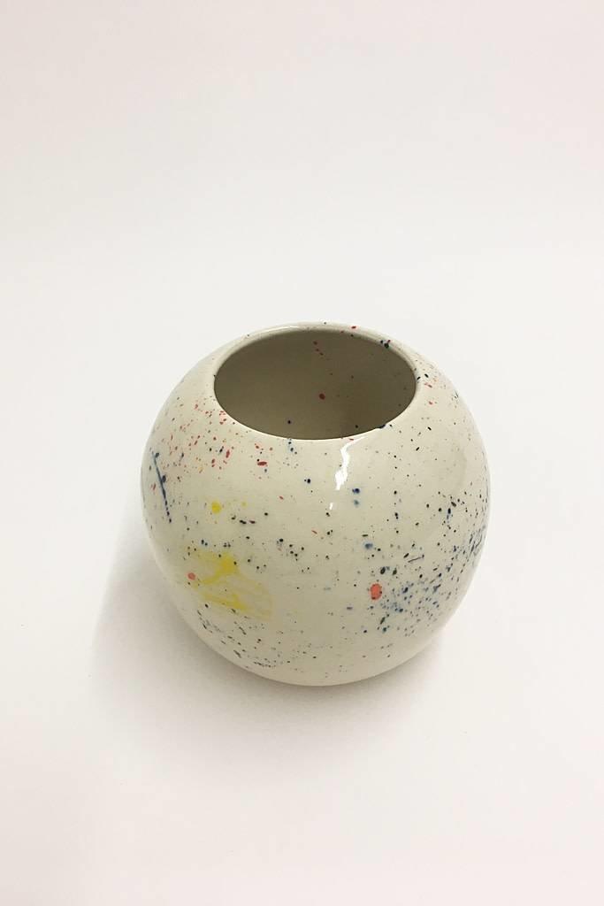 Alice Cheng Studio Round Splatter Vase