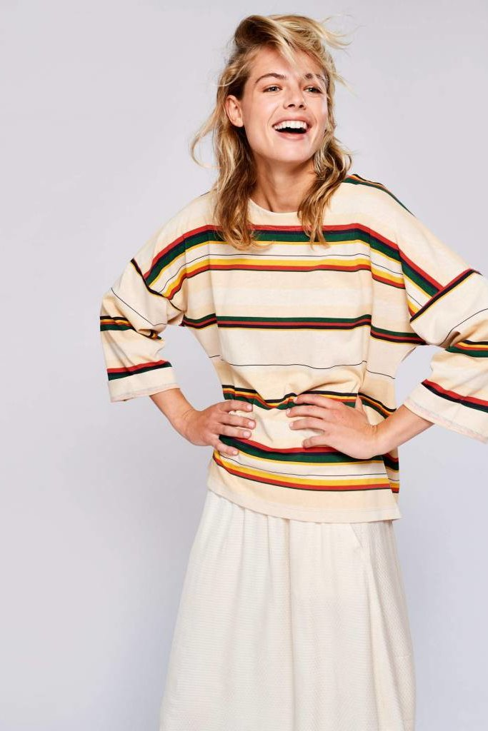Bellerose Enka T -Shirt Cream Stripe