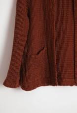 masscob Open Waffle Knit Jacket