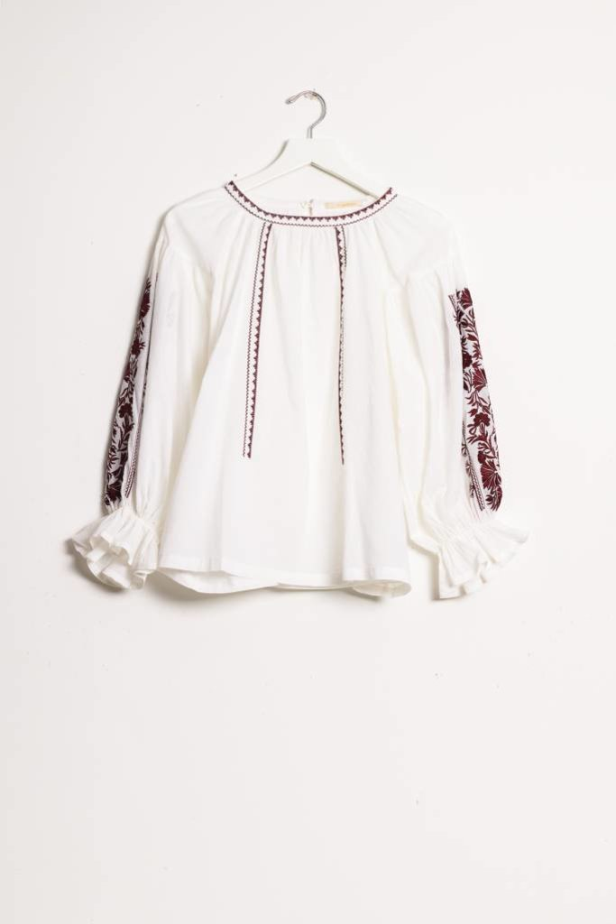 Ne Quittez Pas Embroidered Blouse
