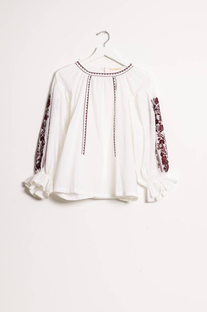Ne Quittez Pas Embroidered Blouse
