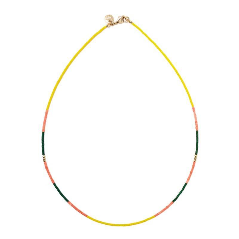 Polder South Necklace 1 /Brass/Opal/Hematite