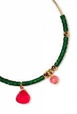 Polder Stacey Earrings 1 Brass/Opal/Hematite/Agate