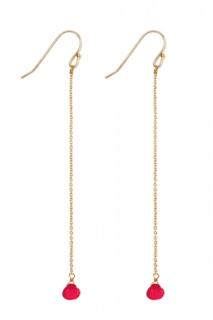 Polder Stacey Earrings 2/Agate/Brass