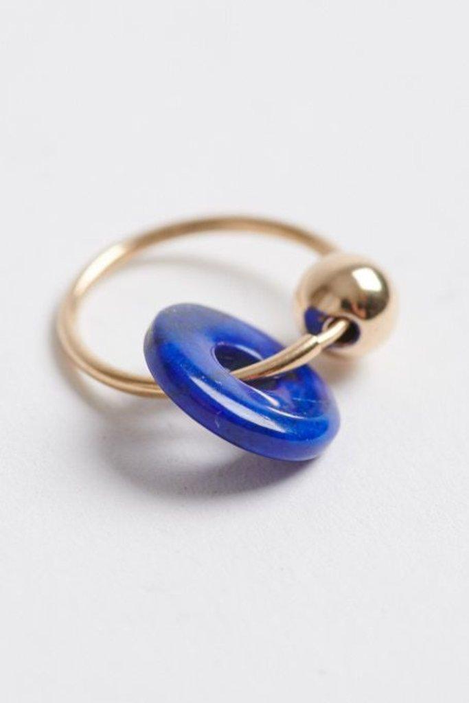 Orbis Earrings Lapis/SS/GF Pair