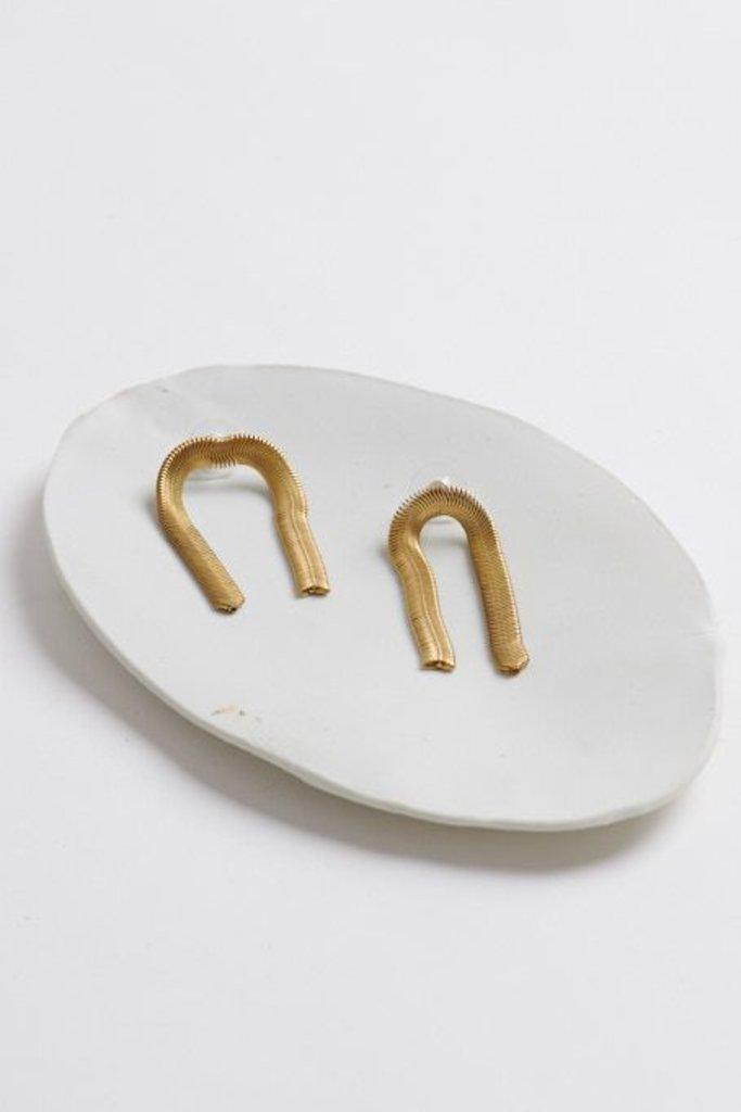 Odessa Earring Pair Brass/SS post