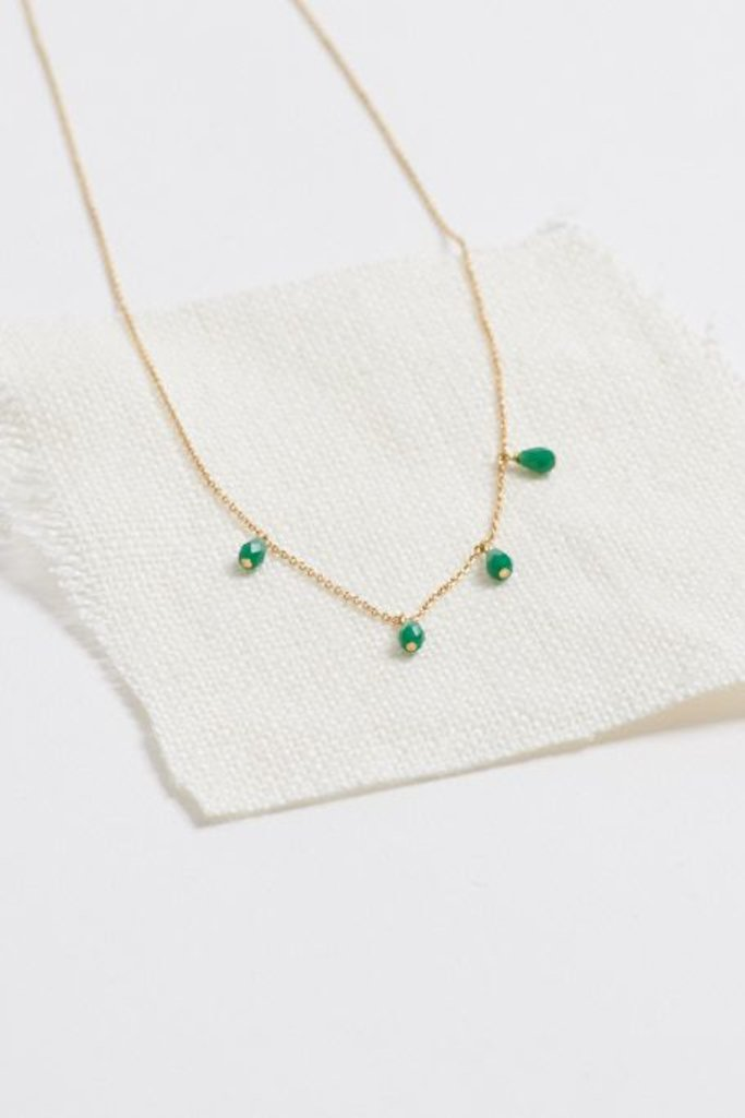 Polder Sunset Necklace 1 Brass/Hematite/Agate