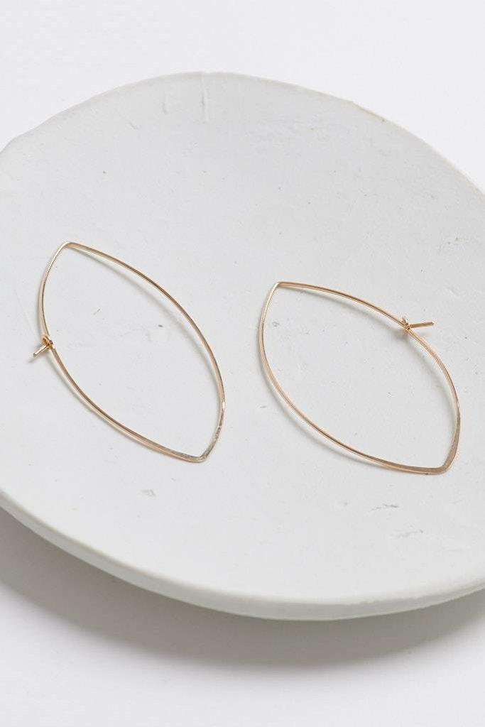 Leaf hammered Earrings GF