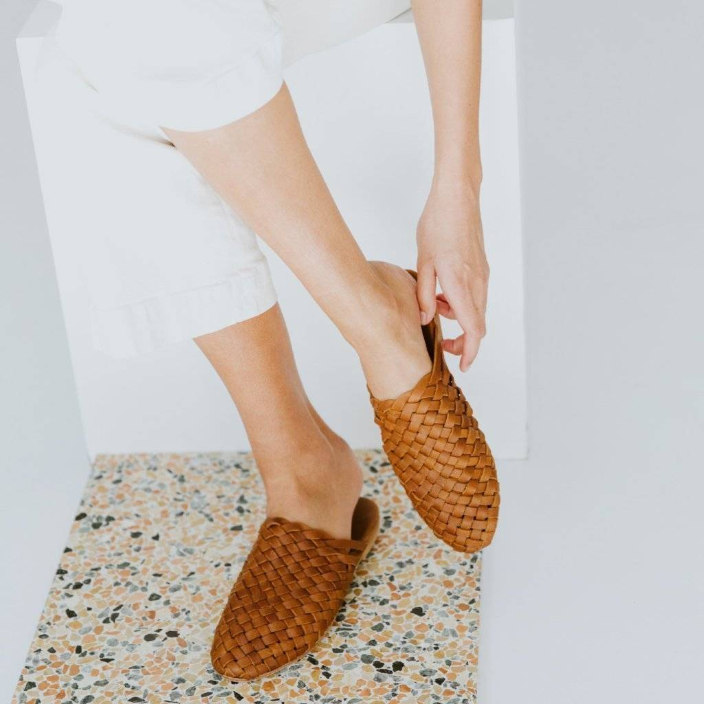 St. Agni Bunto Woven Loafers Vintage Tan