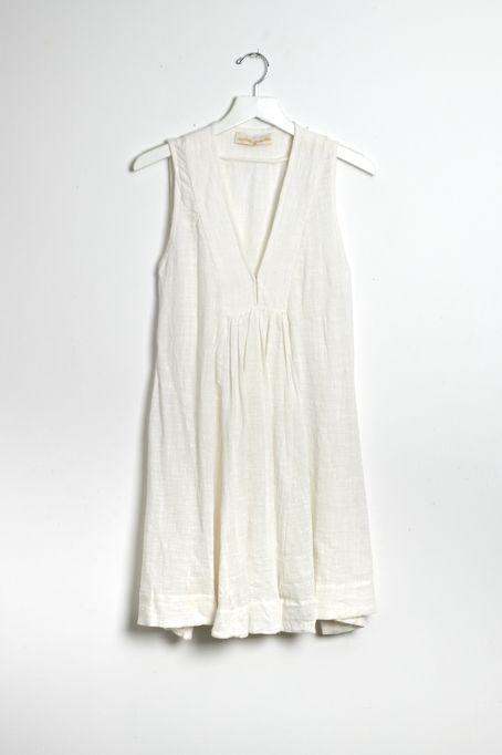 Ramya Dress White Gauze