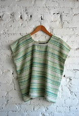 A.Cheng Square Neck Top Fern Stripe O/S