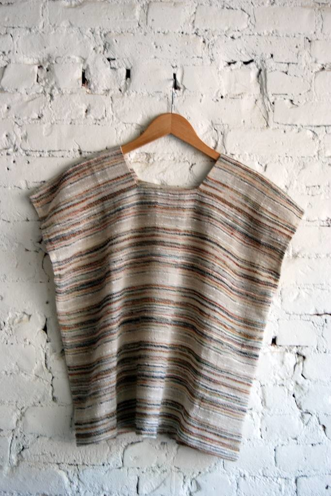 A.Cheng Square Neck Top Desert Stripe  O/S