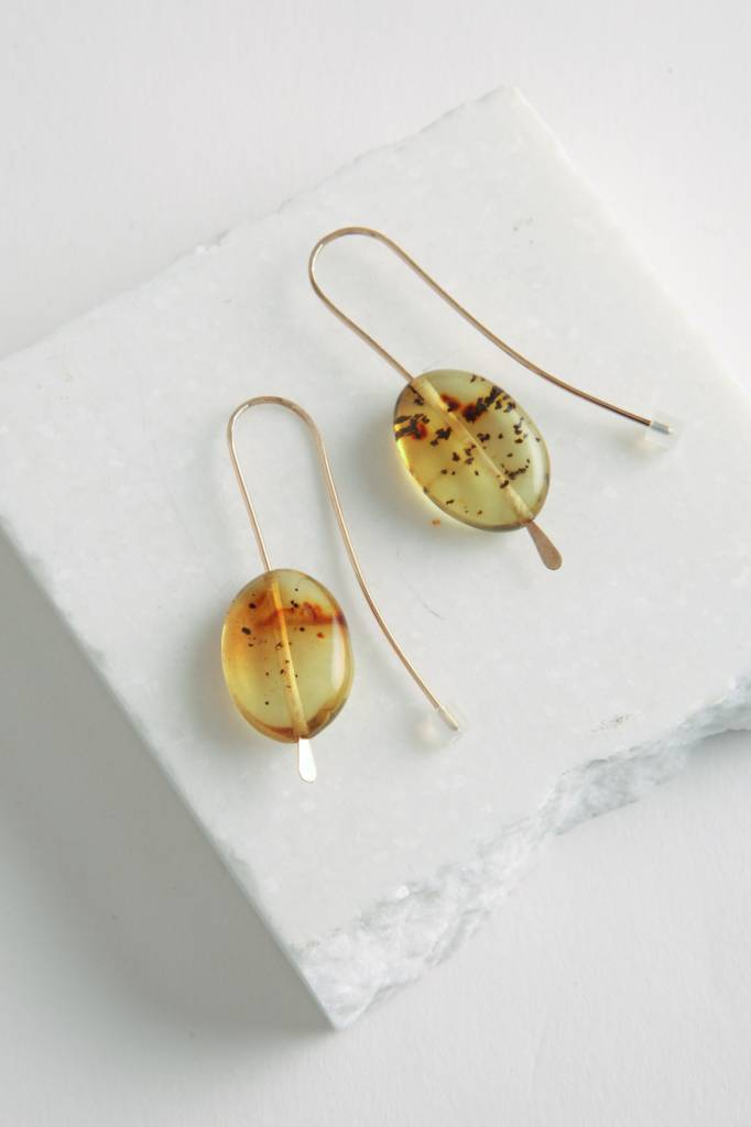 Mary Macgill Amber Drop Earrings